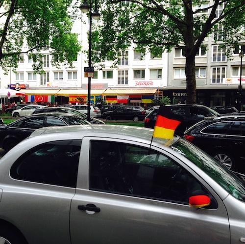 Coche bandera alemana